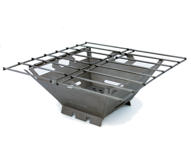 Vargo Fire Box Grill houtskoolgrill titan grijs